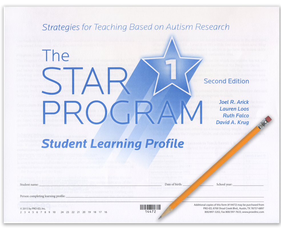 STAR Student Learning Profile - Level 1