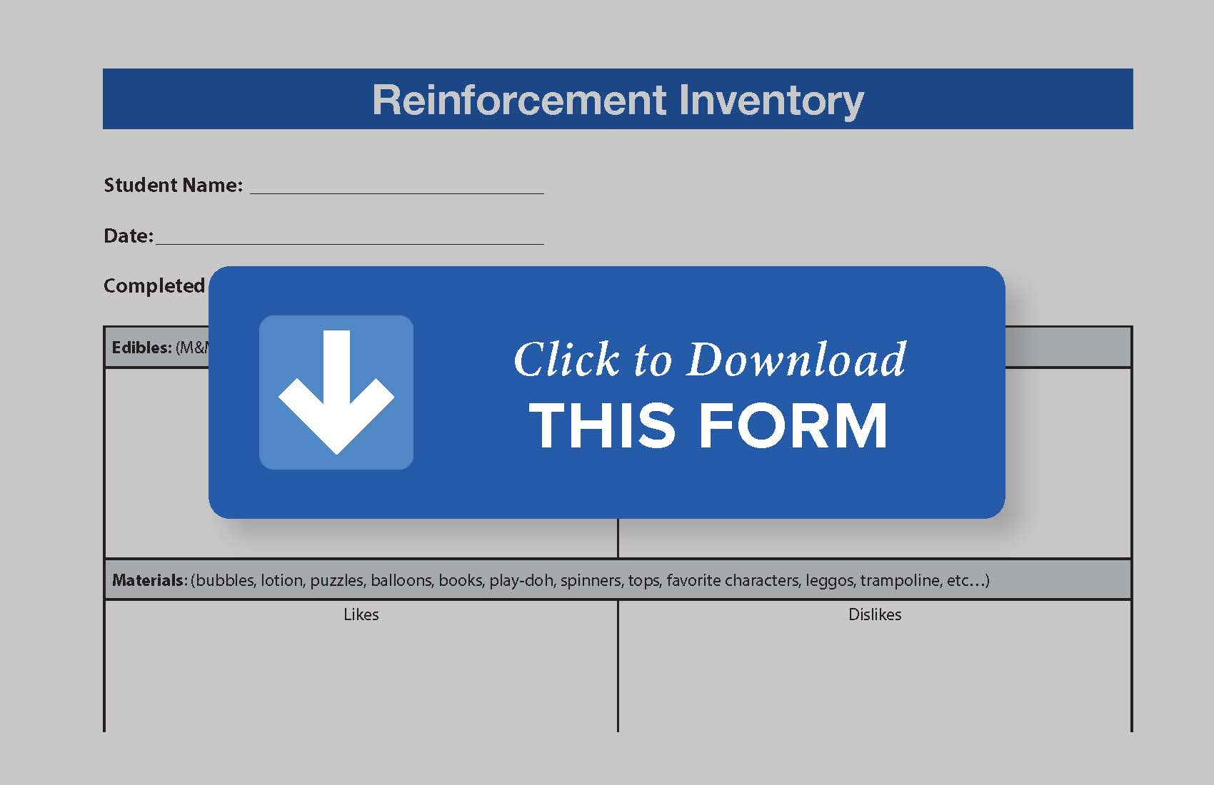 Download Reinforcement Inventory Form